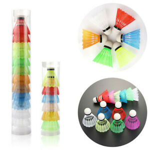 6//12Pcs Colorful Shuttlecocks Leisure Balls Foam Badminton Fitness Sports Games.