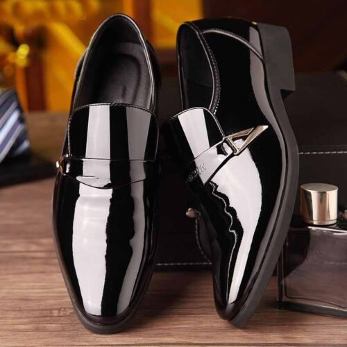 Mens Oxfords Loafers Pointed Toe Leather Shoes Formal Casual Driving Party Dress