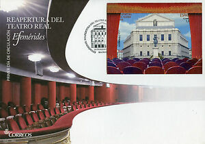 Spain 2017 FDC Teatro Real 1v M/S Cover Theatre Architecture Pop-Out Stamps