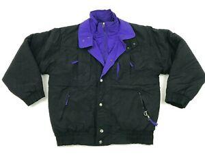 VINTAGE-Green-Mountain-Jacket-Size-Large-L-Black-Purple-Coat-Full-Zip-Adult-90s