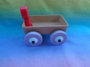 Miniature-Plastic-Dollhouse-Tan-Wagon-Pretend-Play