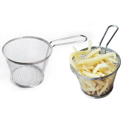 AM/_ EG/_ Stainless Steel Handle Strainer Drainer Sifter Colander Spoon Kitchen To