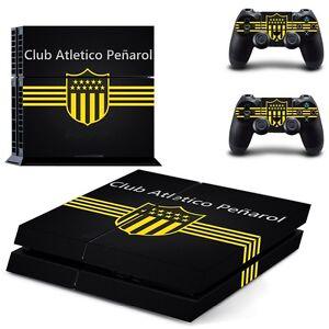 Mode 2019 Penarol Club Atletico Skin Stickers For Sony Ps4 Console + 2 Controllers Cover Faire Sentir à La Facilité Et éNergique