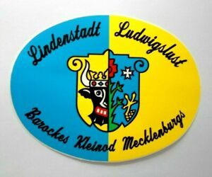 Reise-Aufkleber Germany Lindenstadt Ludwigslust Baroque Jewel