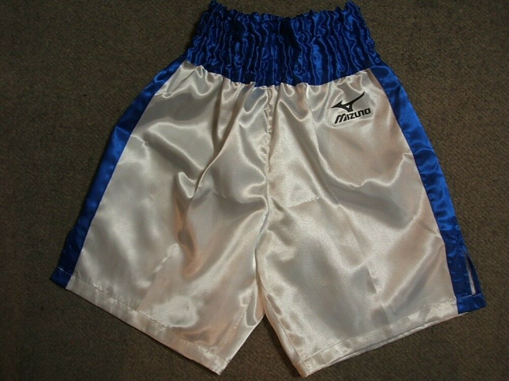 boxing trunks White x bluee Made in Japan Inseam  25cm (9.84 in)