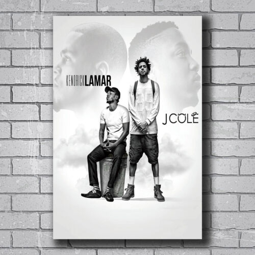 N163 Kendrick Lamar and J Cole Rapper Music Star Hot Wall Poster Art 20x30 24x36
