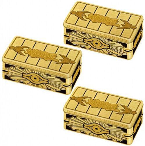 FACTORY SEALED!! 12 TINS Yugioh TCG 2019 Gold Sarcophagus Tins CASE