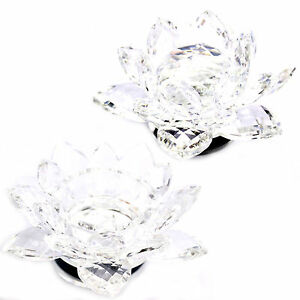 LARGE-130mm-CRYSTAL-CUT-LOTUS-FLOWER-ROSE-ORNAMENT-WITH-GIFT-BOX-CLEAR-COLOUR-UK