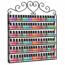 Nail Polish Bottles Wall Display Rack 6 Tier Holder Salon Organizer Metal Stand