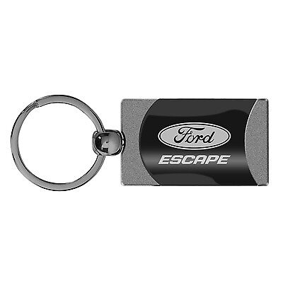 Ford Escape Red Leather Rectangular Key Chain