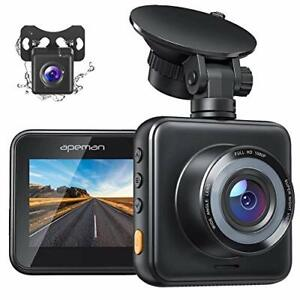 APEMAN Dual Dash Cam for Cars Front and Rear with Night Vision 1080P FHD Mini in Car Camera