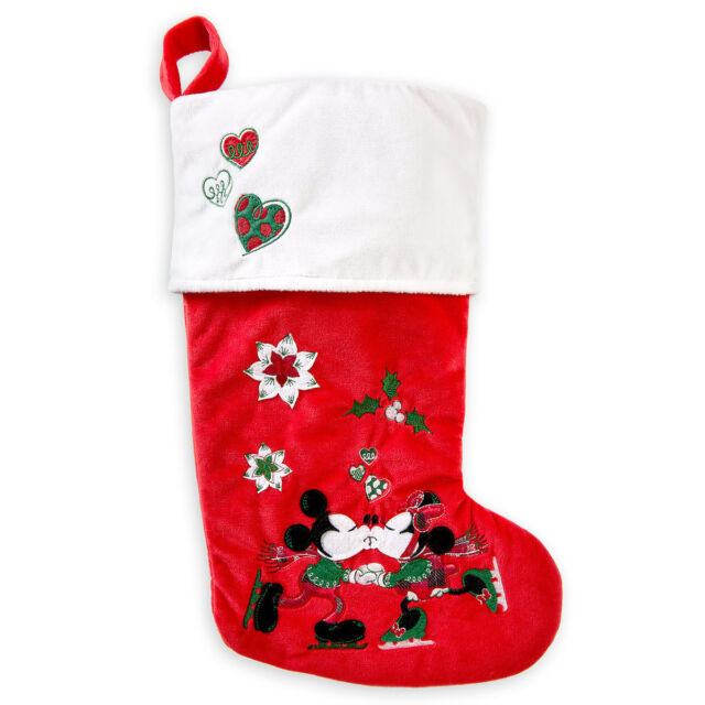 disney minnie and mickey mouse christmas stocking theme parks - Mickey Mouse Christmas Stocking