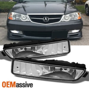 fit 2002 2003 acura tl sedan front bumper driving fog lights lamps w