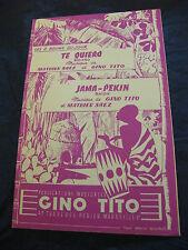 Partition Te Quiero Jama-Pekin de Mathieu Saez et Gino Tito