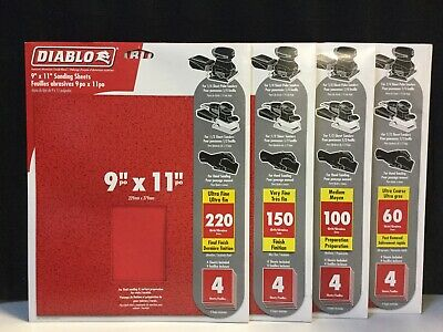 Diablo 4Pk 9X11 220G Sand Sheet
