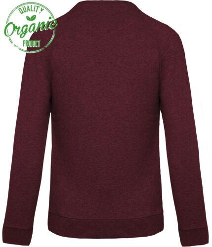 KRB K480 Bio-Baumwolle Sweatshirt Pullover COMPANIEER Rot Weinrot Bordeaux ...