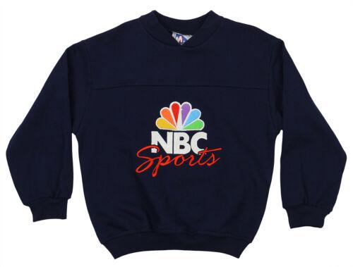 Mighty Mac Boys Toddlers Vintage 90's NBC Sports Fleece Crew Sweatshirt, Navy
