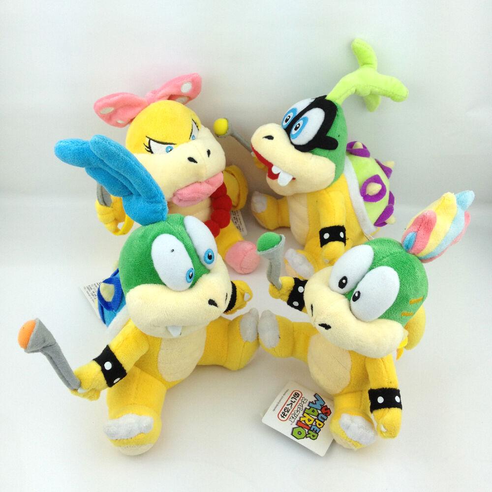 4X Super Mario Mario Mario Bros Koopalings Kids Larry Iggy Lemmy Wendy Koopa Soft Plush Toy b408c6
