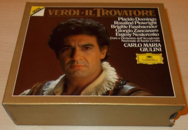VERDI-IL TROVATORE-2xCD 1988-DOMINGO/GIULINI-WG FULL SILVER RINGS-RARE