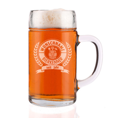 Maßkrug mit Gratis Gravur für den Bierkenner