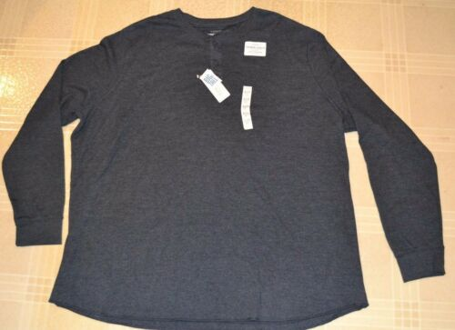 Thermal Henley Big /& Tall Long Sleeve Top Shirt Extra Soft Sonoma MSRP $40.00