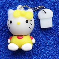 1 New Yellow Novelty Hello Kitty 128MB, USB Flash Drive Memory Stick