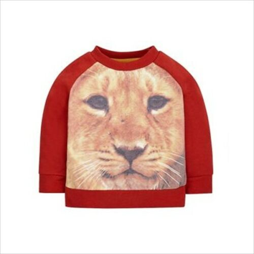 MOTHERCARE BABY BOYS LION GRAPHIC LONG SLEEVED TOP T-SHIRT SWEATSHIRT 3-6 Months