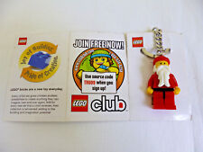 2 2009 Lego Club Santa Key Chain Christmas Stocking Stuffer $5.00 Coupon