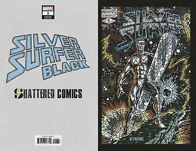 2-pack IRON MAN 2020 #1 SILVER SURFER BLACK #1 2019 Shattered Variants