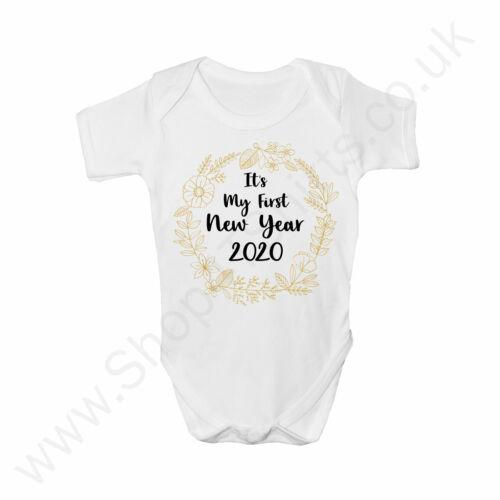 Ma première année nouvelle Baby Grow//Corps Costume-Bébés Mignon New Years Clothing