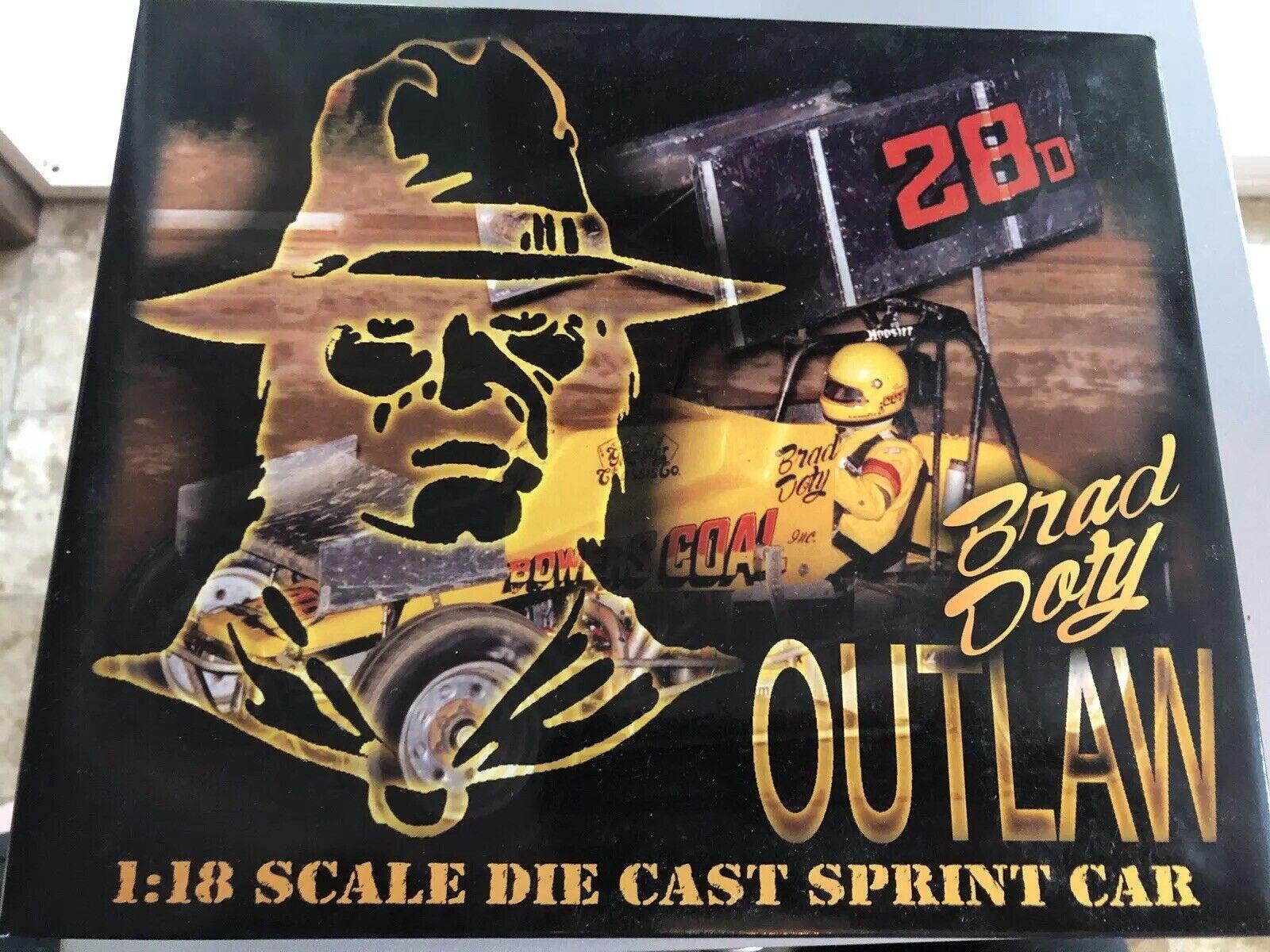 GMP Brad Doty Bowers carbón Outlaw metal con alas Sprint suciedad coche D 1 18 Escala