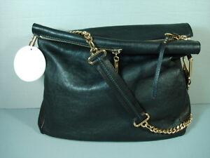 a76b62100723 Chloe XL Vanessa Black Leather Handbag Shoulder Bag Cross Body Purse ...