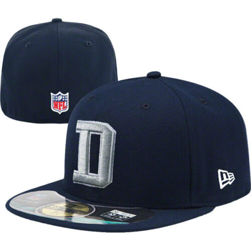 New Era 59FIFTY DALLAS COWBOYS D Official Cap NFL Fitted Hat Navy 5950 NWT
