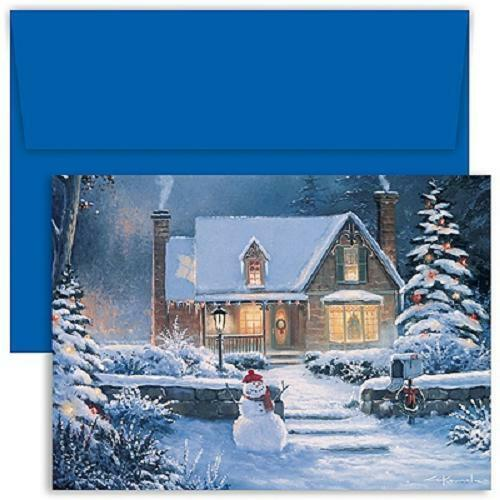 Set of 18 with Keepsake Box Coming Home Boxed Holiday Christmas Cards