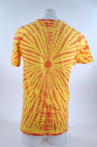 2015 NWOT MENS AIRBLASTER SUNSET TIE DYE TEE SHIRT $32 red yellow snowboard
