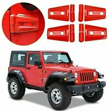 Door Hinge Covers Protector Red Kit Fit Jeep Wrangler Jk Jku Unlimited Parts 07 Fits Jeep Wrangler Unlimited