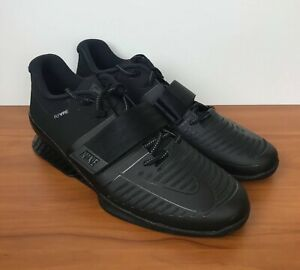 4bc6381b2970 Image is loading Nike-Romaleos-3-Weightlifting-Powerlifting -Shoes-Black-852933-