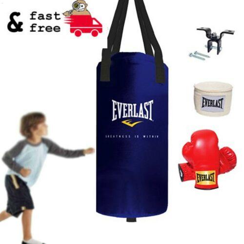 25 LB HEAVY BAG KIT Youth Boxing Punching Gloves Hand Wraps Starter Set Training