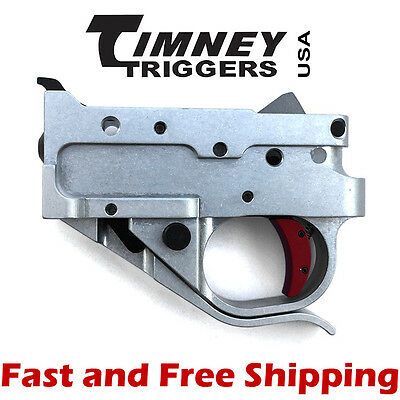 Timney Drop In Competition Trigger Group For Ruger 10 22 Silver Housing W Red 81951022266 Ebay