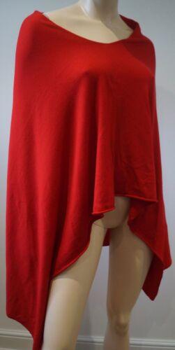 capo merino rossa cashmere lana poncho in London seta Maglieria in con donna Winser e wqn4pSWC