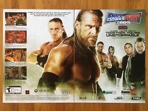 WWE-Smackdown-vs-Raw-2009-Poster-Ad-Art-Print-Promo-Shawn-Michaels-ECW-WWF-WCW