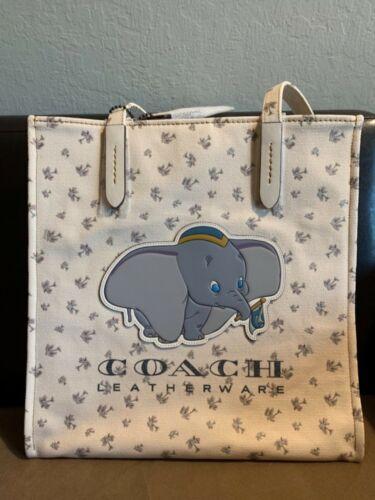 X Bag 192643824317 Chalk Canvas Nwt Tote Dumbo Disney Coach Shoulder OOwx4H