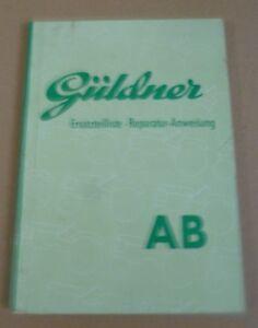 Gueldner-Schlepper-AB-Ersatzteilliste-Reparaturanweisung
