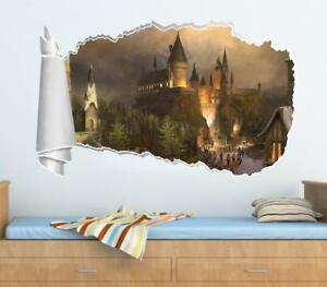 Image Is Loading Hogwarts Harry Potter 3D Torn Hole Wall Sticker