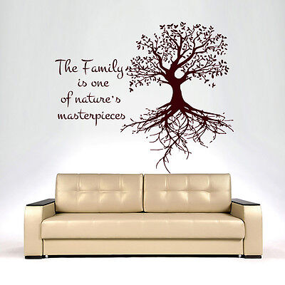 Tree Wall Decals Family Stickers Vinyl Decal Kitchen Bedroom Home Decor MN233