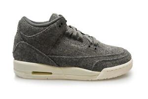 64cb5a66bbcd26 Júnior Nike Air Jordan 3 Retro Lana BG RARO - 861427 004 - gris lana ...