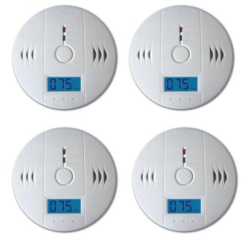 4X CO Melder Feuermelder Magnethalter LCD Anzeige Laden Detektor Brandmelder
