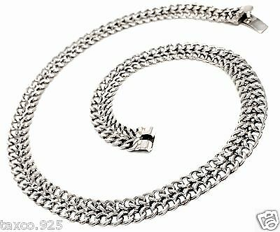 TAXCO MEXICAN 925 STERLING SILVER ELEGANT LIGHTWEIGHT CHAIN LINK NECKLACE MEXICO
