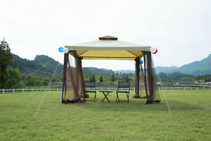 Garden-Metal-Gazebo-Patio-2-tier-Yard-Canopy-Party-Tent-Outdoor-W-Netting-Event