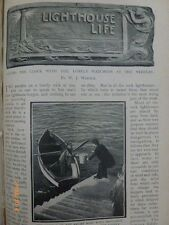 Needles Lighthouse Keeper Mr W L Iddes Life Trinity House Rare Old Article 1902